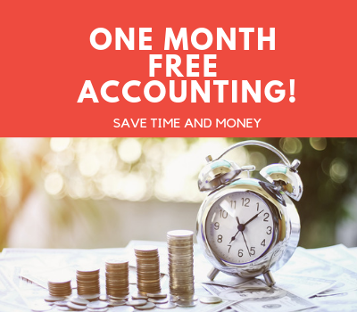 1 month of free accounting! Save time and money.