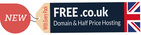 New! Free .co.uk Domain & Half Price Hosting with every pack